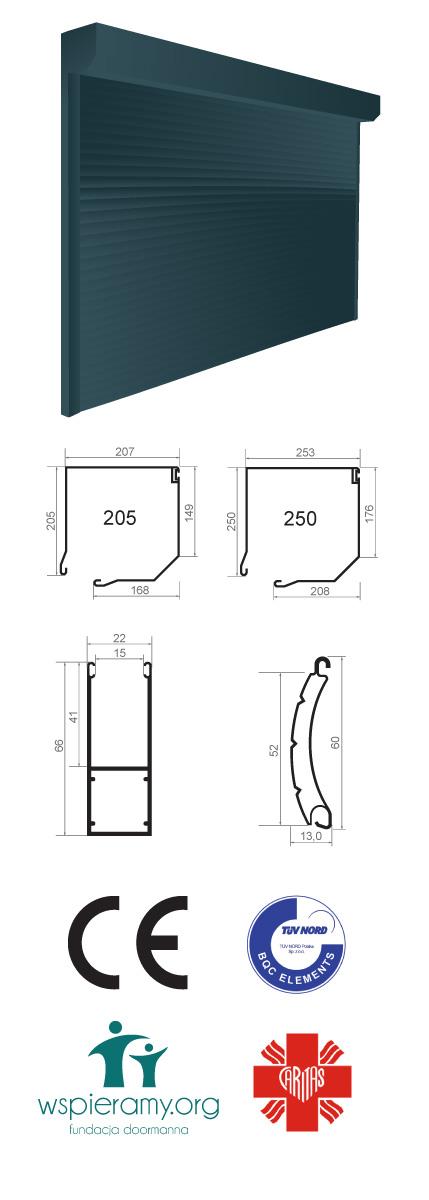 mini 52 - levná a odolná rolovací garážová vrata
